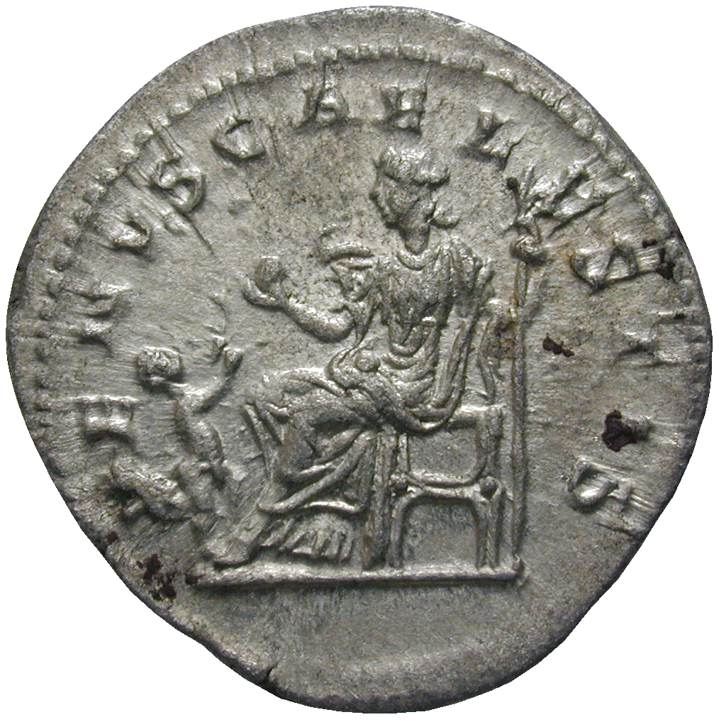 Roman Empire, Elagabalus for his Mother Julia Soaemias, Denarius (reverse)