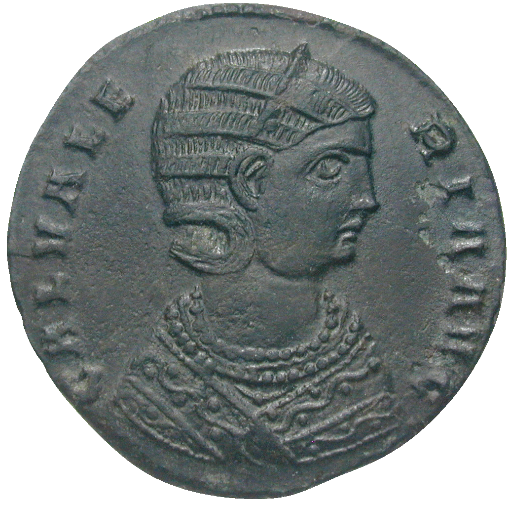 Roman Empire, Galerius for his Wife Galeria Valeria, Follis (obverse)