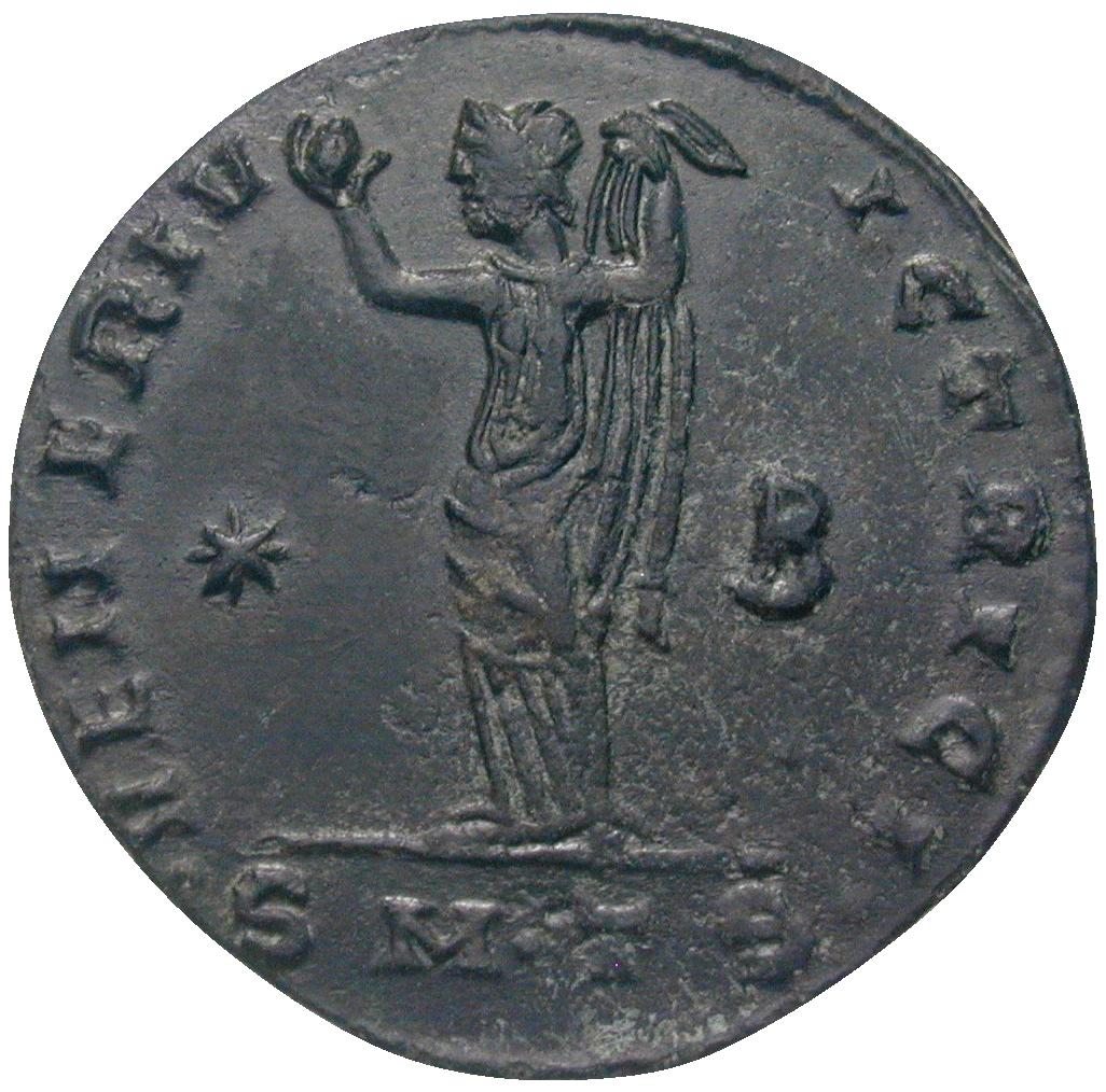Roman Empire, Galerius for his Wife Galeria Valeria, Follis (reverse)