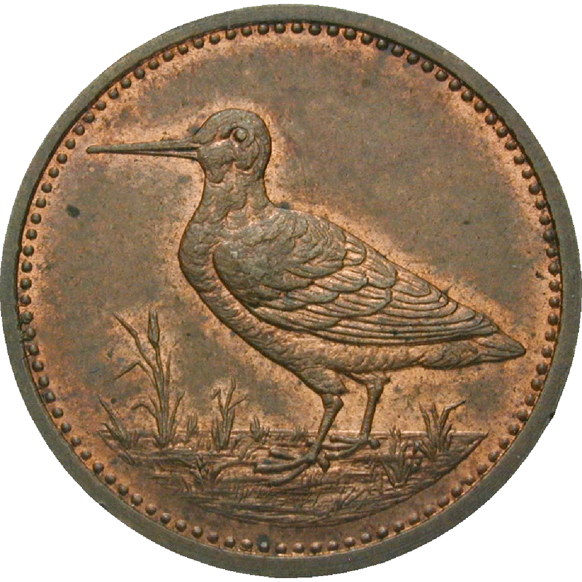 German Confederation, County of Ysenburg-Büdingen, Bruno, Schnepfenheller (obverse)