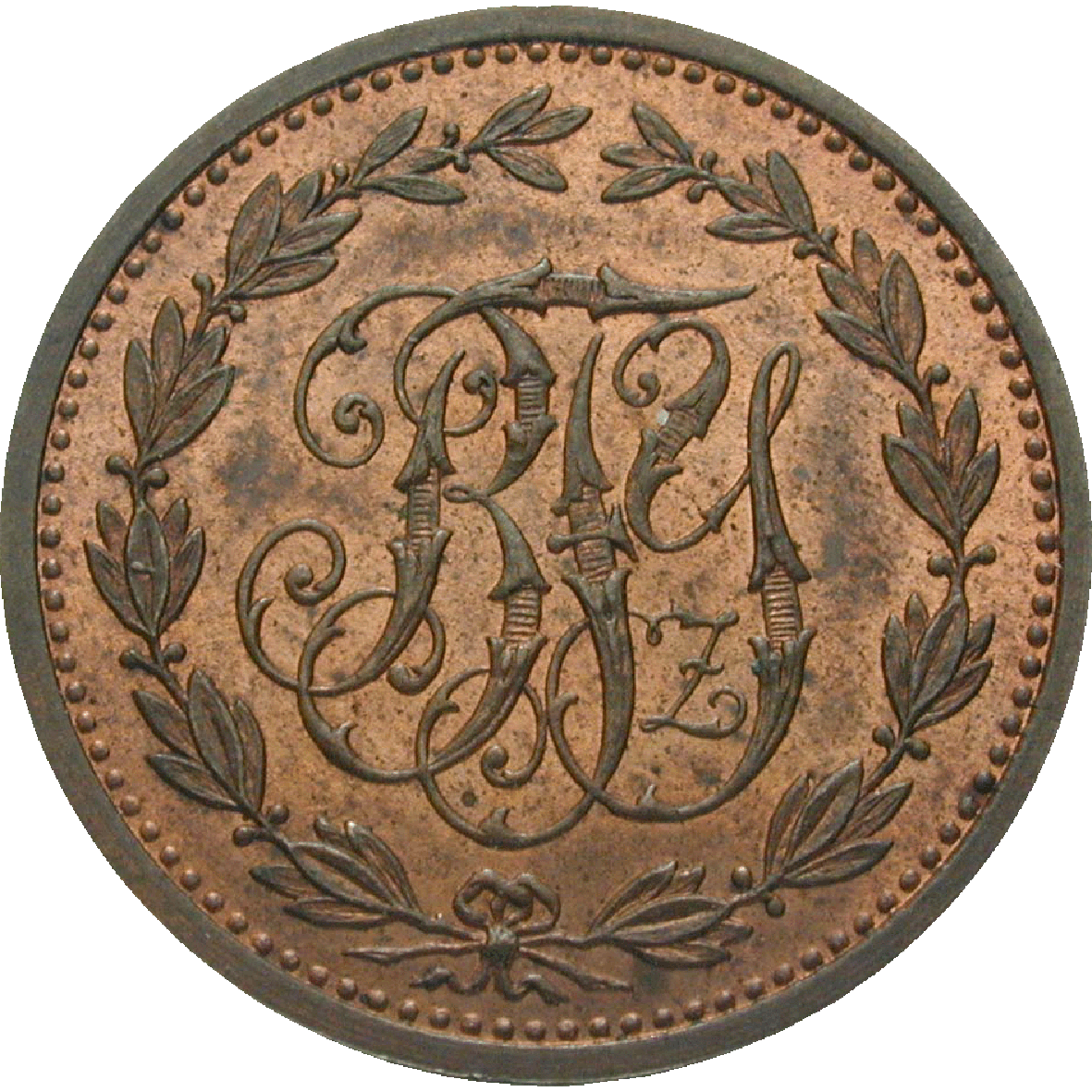 German Confederation, County of Ysenburg-Büdingen, Bruno, Schnepfenheller (reverse)