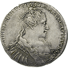 Russian Empire, Anna Ivanovna, Ruble 1731 (obverse)