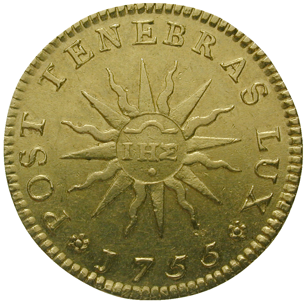 Republik of Geneva, Pistole 1755 (reverse)