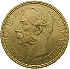 Kingdom of Denmark, Christian IX for the Danish West Indies (Virgin Islands), 4 Dalers or 20 Francs 1904 (obverse)