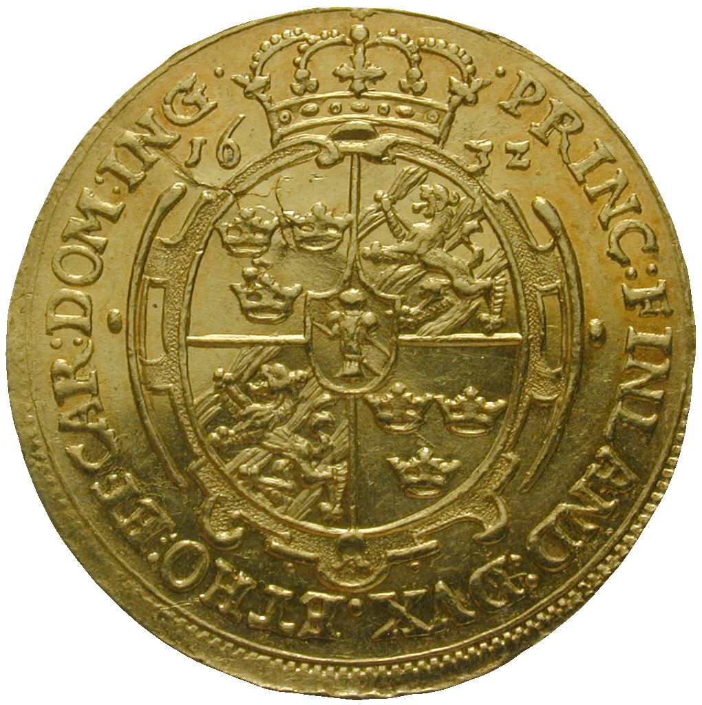 Kingdom of Sweden, Gustav II Adolf, Ducat 1632 (reverse)