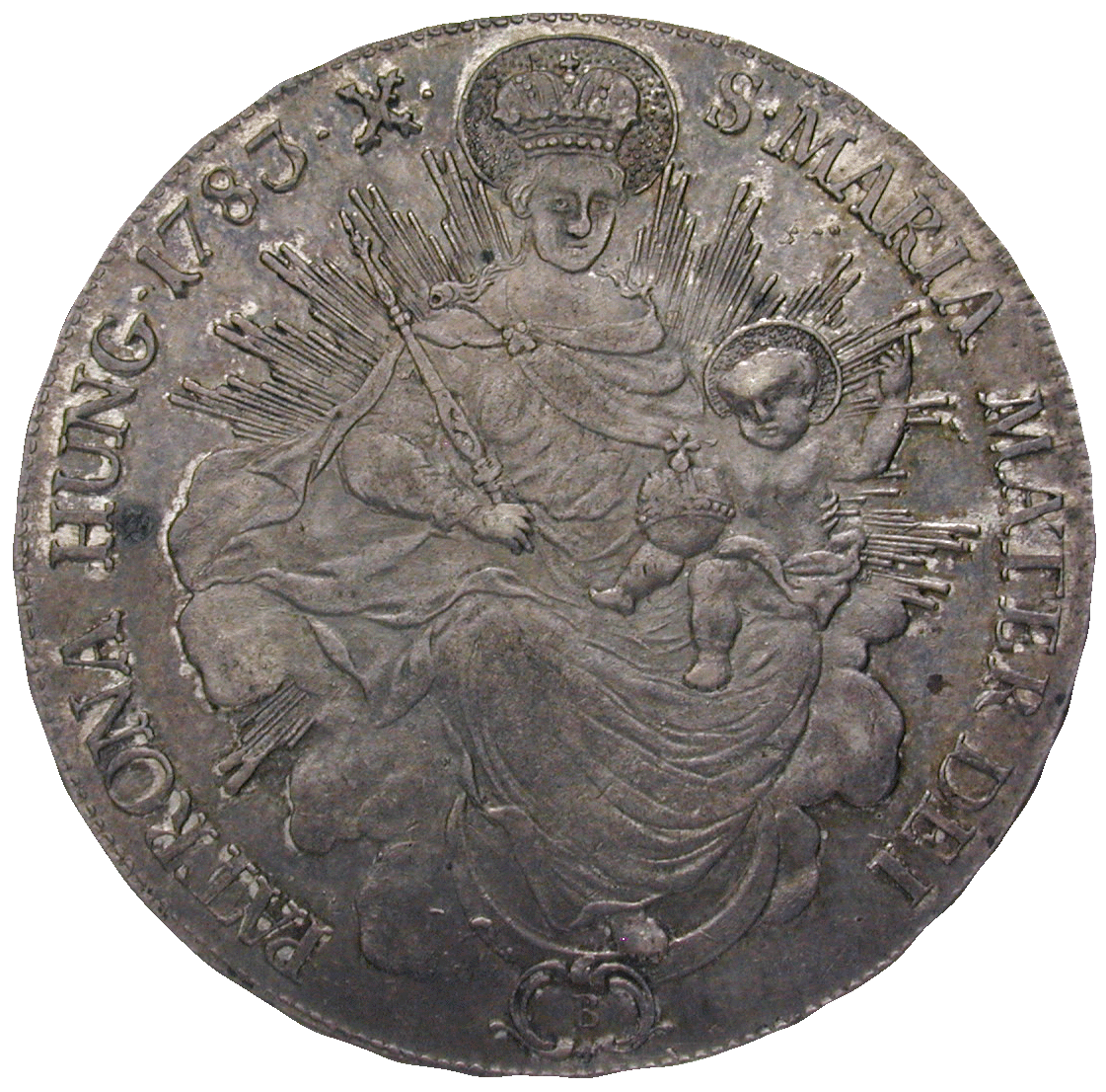Holy Roman Empire, Kingdom of Hungary, Joseph II, Taler 1783 (reverse)