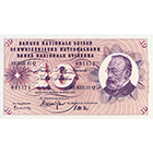 Swiss Confederation, 10 Francs (5th Banknote Series, in Circulation 1956-1980) (obverse)