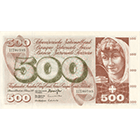 Swiss Confederation, 500 Francs (5th Banknote Series, in Circulation 1956-1980) (obverse)