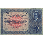Swiss Confederation, 20 Francs (3rd Banknote Series, in Circulation 1918-1956) (obverse)