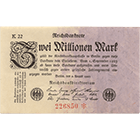 German Empire, Weimar Republic, 2 Million Mark 1923 (obverse)