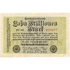 German Empire, Weimar Republic, 10 Million Marks 1923 (obverse)