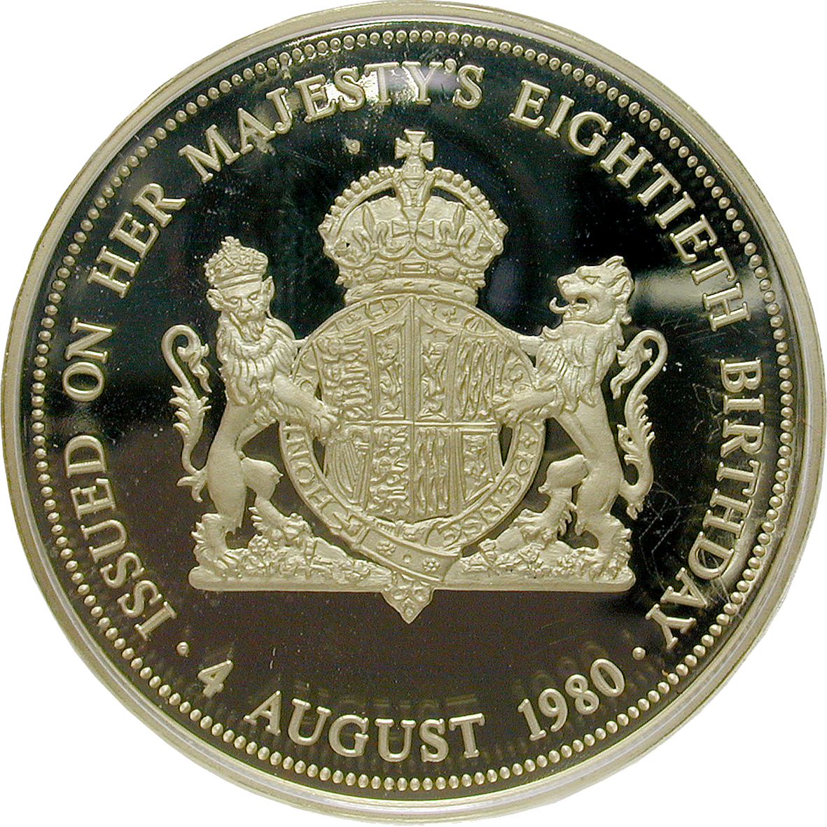 United Kingdom of Great Britain, Medal 1980 (reverse)