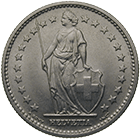 Swiss Confederation, 2 Francs 1968 (obverse)