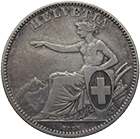 Swiss Confederation, 2 Francs 1860 (obverse)