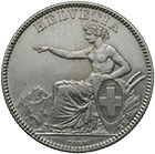 Swiss Confederation, 2 Francs 1862 (obverse)