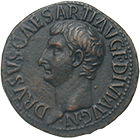 Roman Empire, Tiberius for Drusus, As (obverse)
