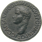 Roman Empire, Gaius, As (obverse)