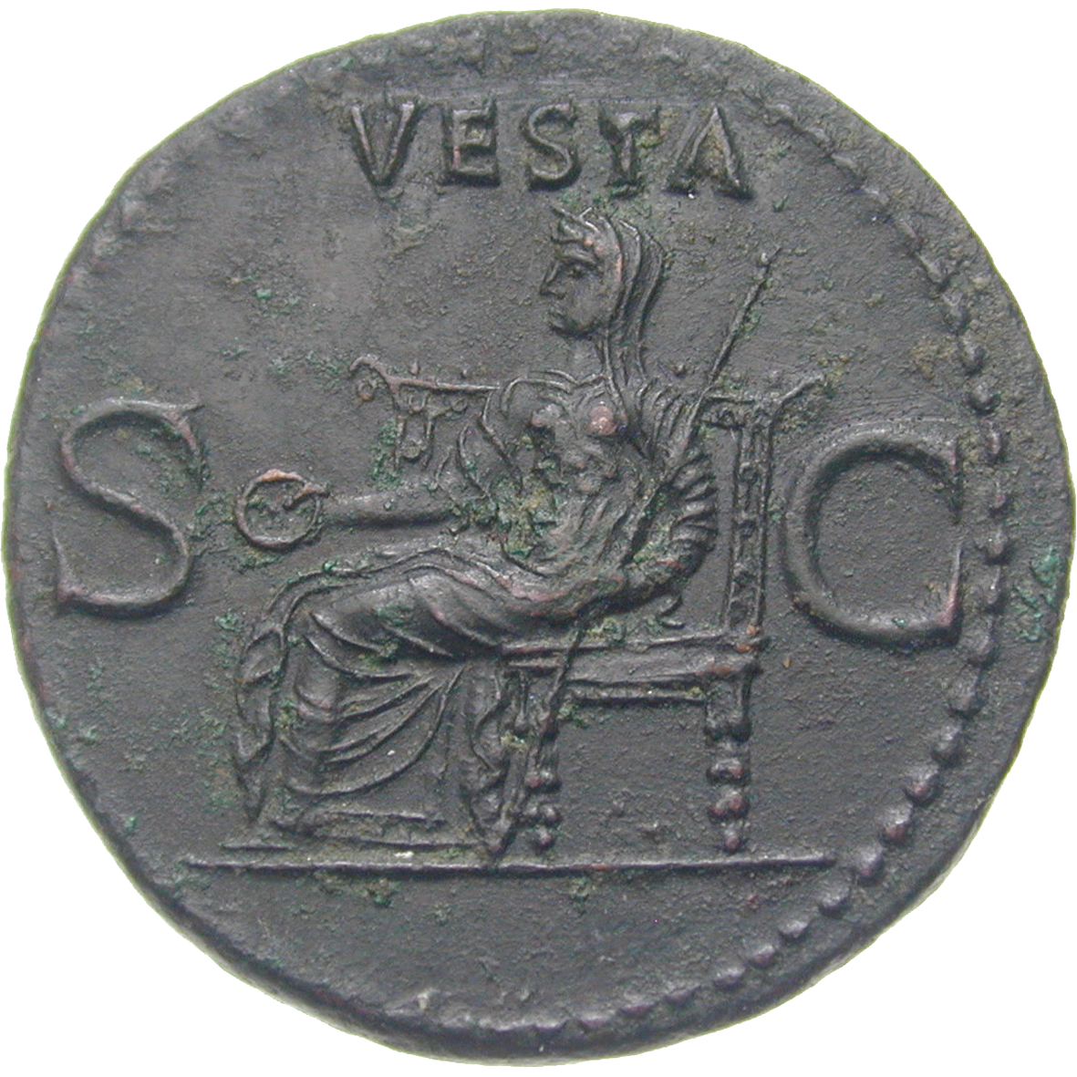 Roman Empire, Gaius, As (reverse)