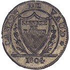Canton of Vaud, Time of Mediation, Batzen 1804 (obverse)
