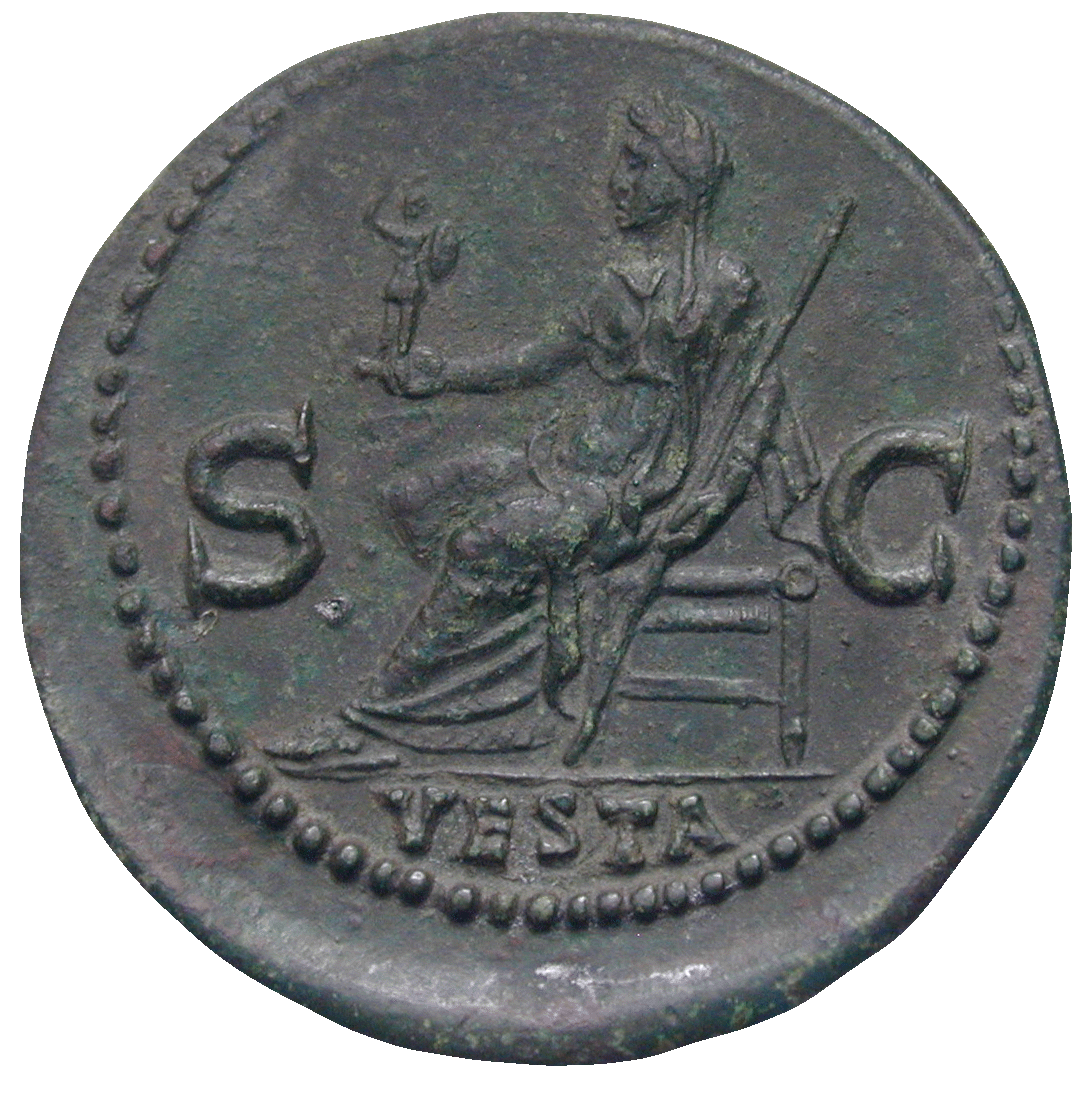 Roman Empire, Titus for his daughter Julia Titi, Dupondius (reverse)