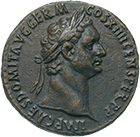 Roman Empire, Domitian, As (obverse)
