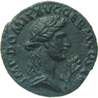 Roman Empire, Domitian, Quadrans (obverse)
