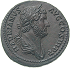Roman Empire, Hadrian, As (obverse)
