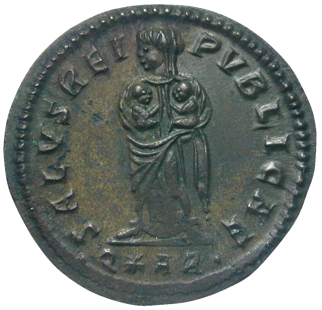 Roman Empire, Constantine for his Wive Fausta, Bronze Coin (reverse)