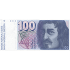 Swiss Confederation, 100 Francs (6th Banknote Series, in Circulation 1976-2000) (obverse)