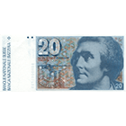 Swiss Confederation, 20 Francs (6th Banknote Series, in Circulation 1976-2000) (obverse)