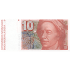 Swiss Confederation, 10 Francs (6th Banknote Series, in Circulation 1976-2000) (obverse)