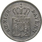 Kingdom of Bavaria, Louis I, 1 Kreuzer 1839 (obverse)