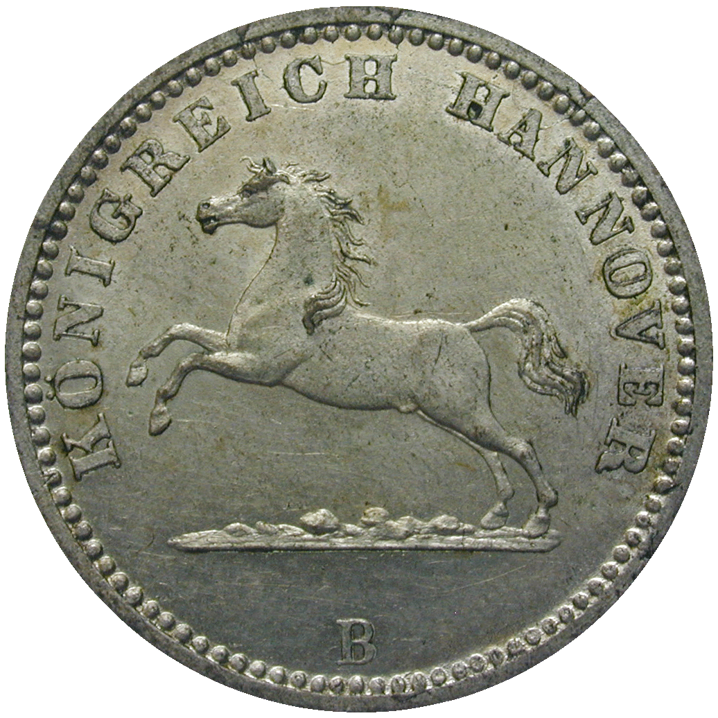 Kingdom of Hannover, George V, 1 Groschen 1863 (obverse)