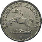Kingdom of Hannover, George V, Groschen 1864 (obverse)