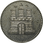 Free City of Hamburg, Dreiling 1855 (obverse)