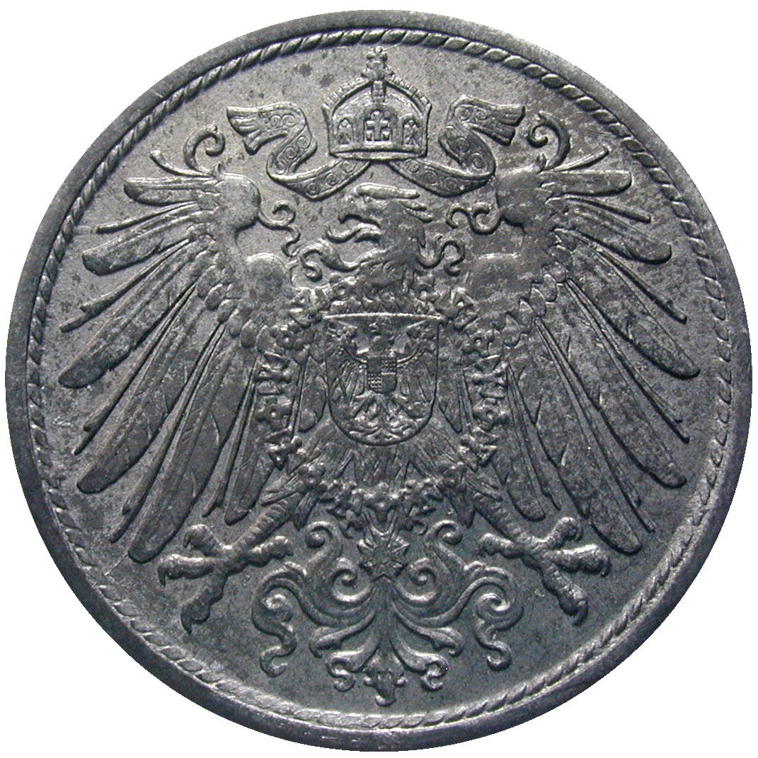German Empire, Weimar Republic, 10 Pfennig 1919 (reverse)