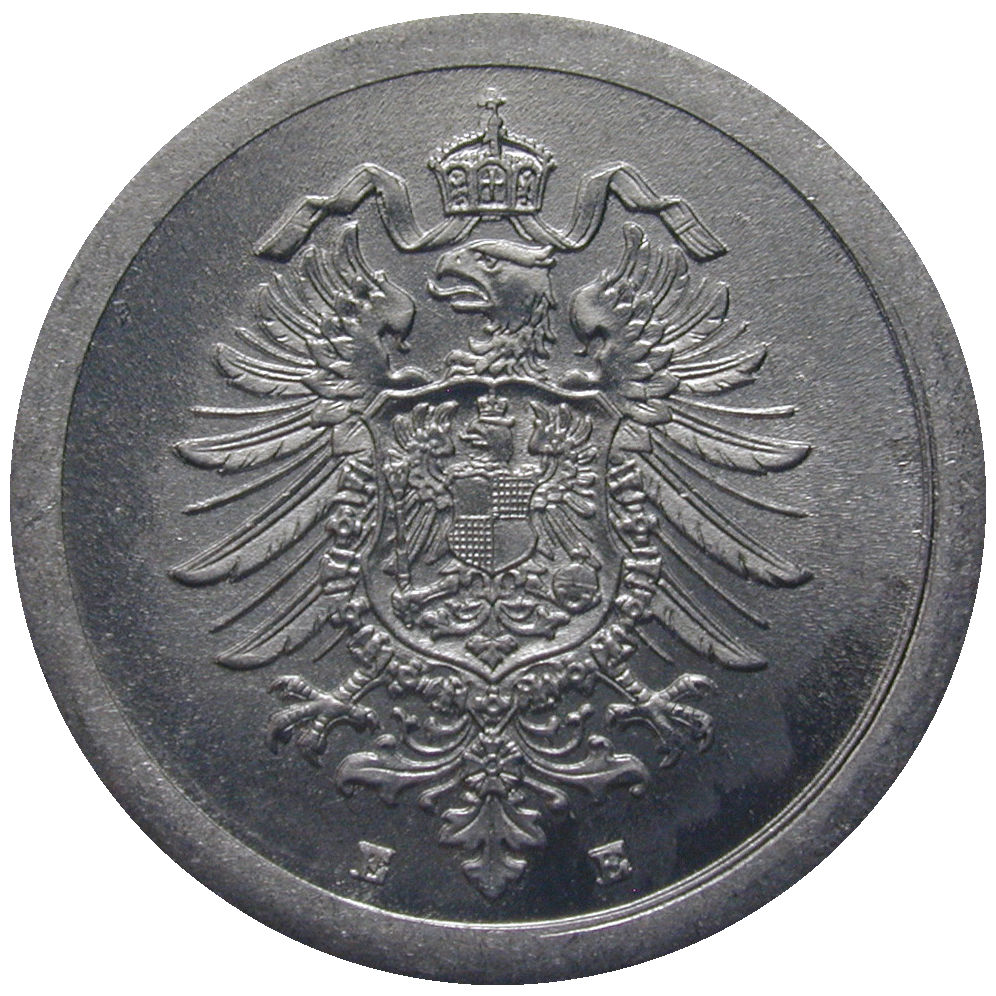 German Empire, Wilhelm II (1888-1918), 1 Pfennig 1917 (reverse)