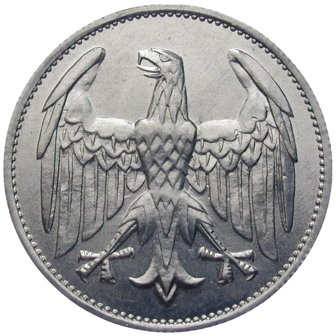 Deutsches Reich, Weimarer Republik, 3 Mark 1922 (reverse)