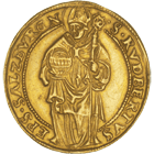Holy Roman Empire, Archbishopric Salzburg, Michael of Kuenburg, Quadruple Ducat 1555 (obverse)