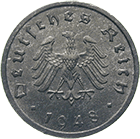 German Third Reich, Allied Occupation, 10 Reichspfennig 1948 (obverse)
