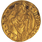 Holy Roman Empire, Archbishopric Salzburg, Michael of Kuenburg, Ducat 1555 (obverse)