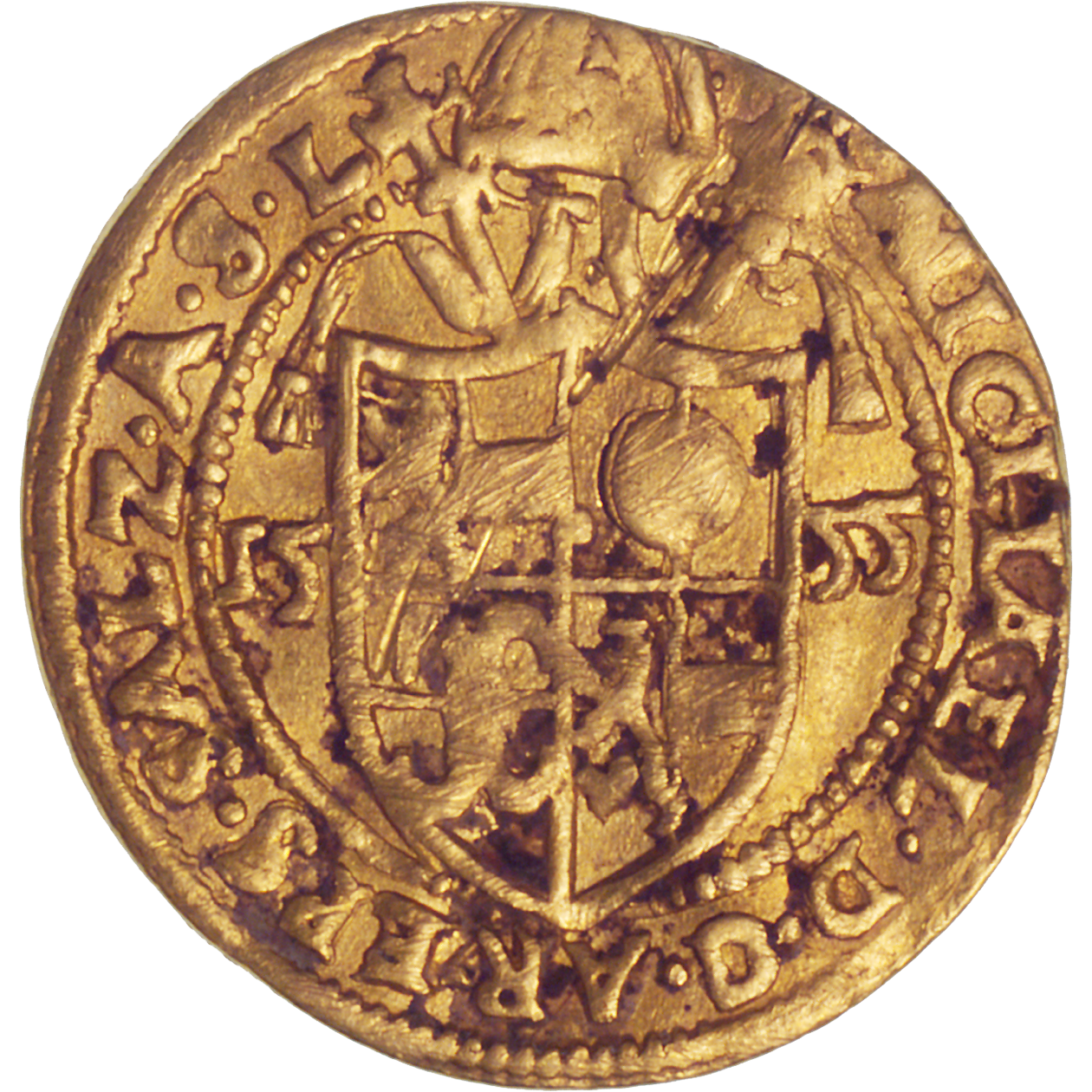 Holy Roman Empire, Archbishopric Salzburg, Michael of Kuenburg, Ducat 1555 (reverse)