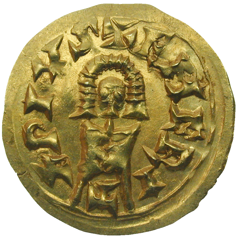Iberian Peninsula, Empire of the Visigoths, Suintila, Tremissis (reverse)