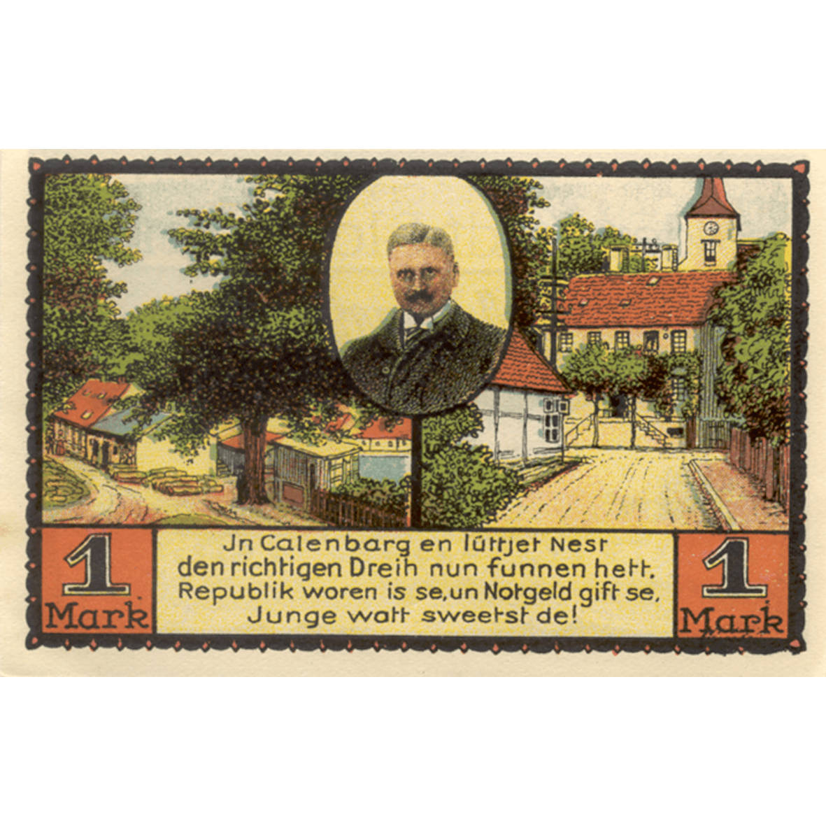 German Empire, Weimar Republic, City of Eldagsen, Emergency Issue 25 Pfennig 1921 (reverse)