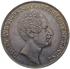 Kingdom of Sweden, Oscar I, 1 Riksdaler Species 1854 (obverse)