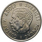 Kingdom of Sweden, Gustav VI Adolf, 2 Kronor 1971 (obverse)