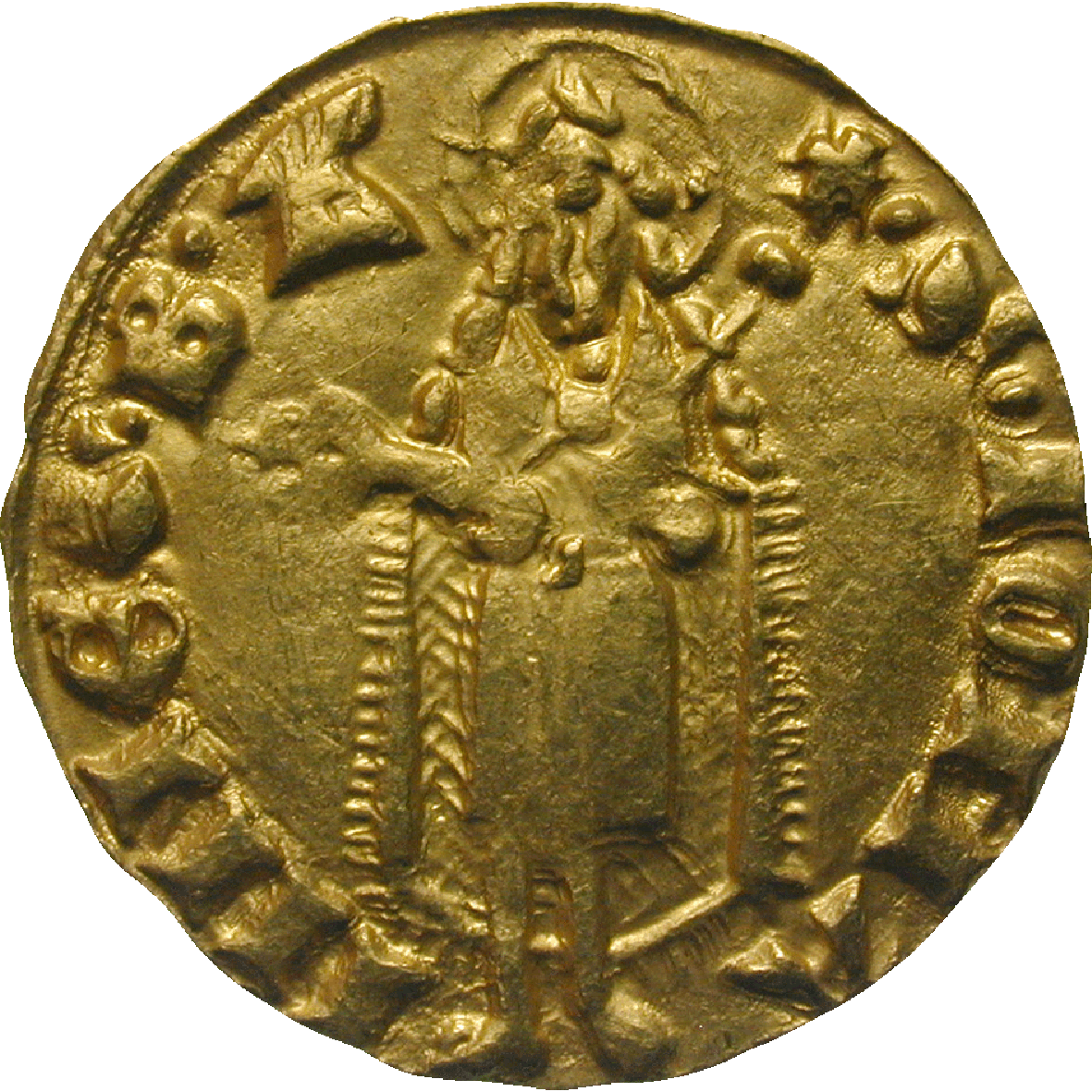 Kingdom of Bohemia, John of Luxemburg, Goldgulden (reverse)