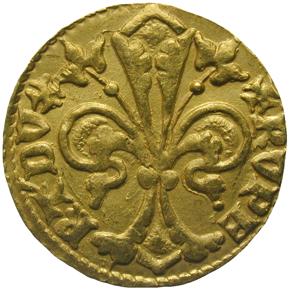 Holy Roman Empire, County Palatine of the Rhine, Rupert I, Goldgulden (obverse)