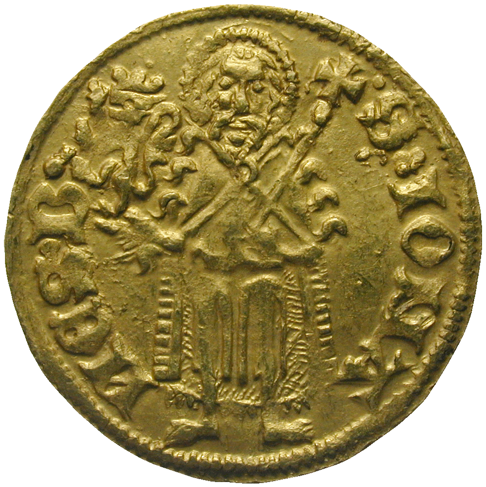 Holy Roman Empire, County Palatine of the Rhine, Rupert I, Goldgulden (reverse)