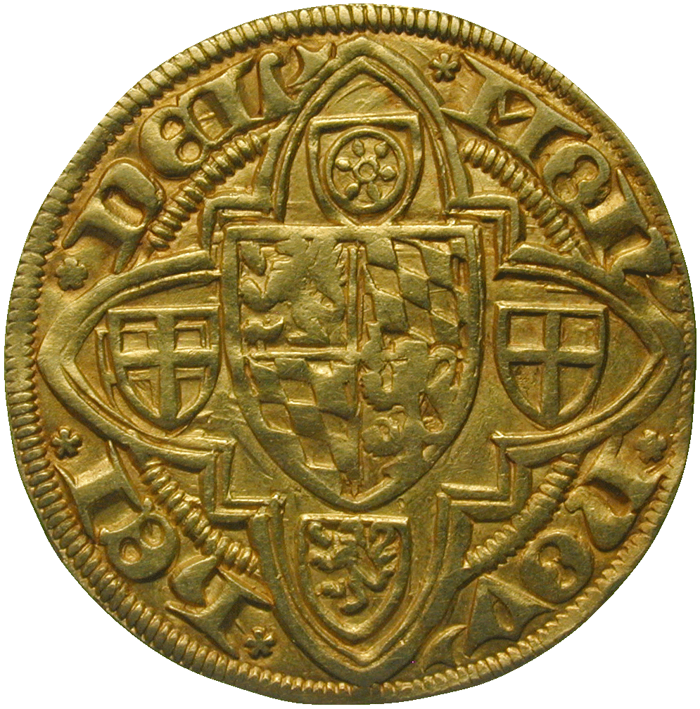 Holy Roman Empire, County Palatine of the Rhine, Louis III, Goldgulden (reverse)